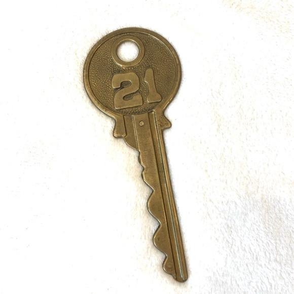 Vintage Oversized Brass Key Home Decor